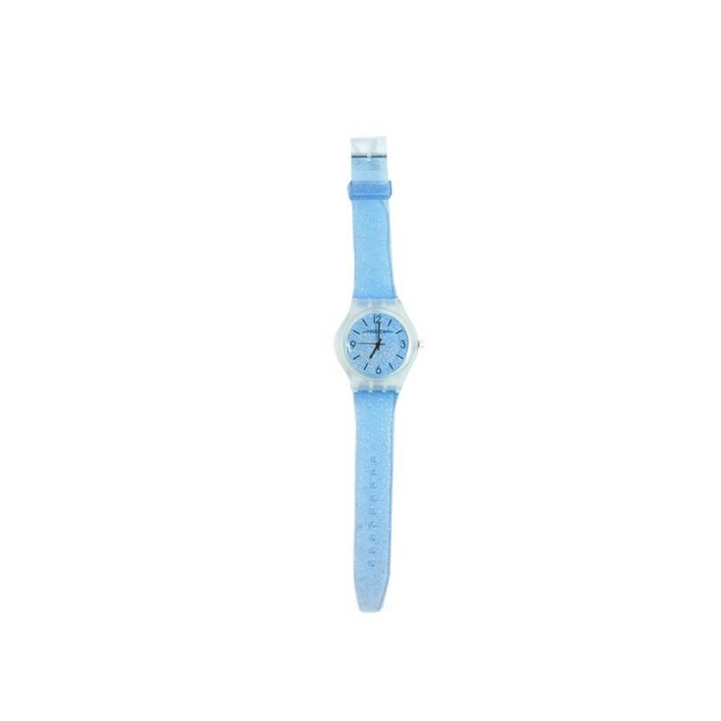 OTROS LICENCIADOS - Reloj para niña correa silicona transparente azul