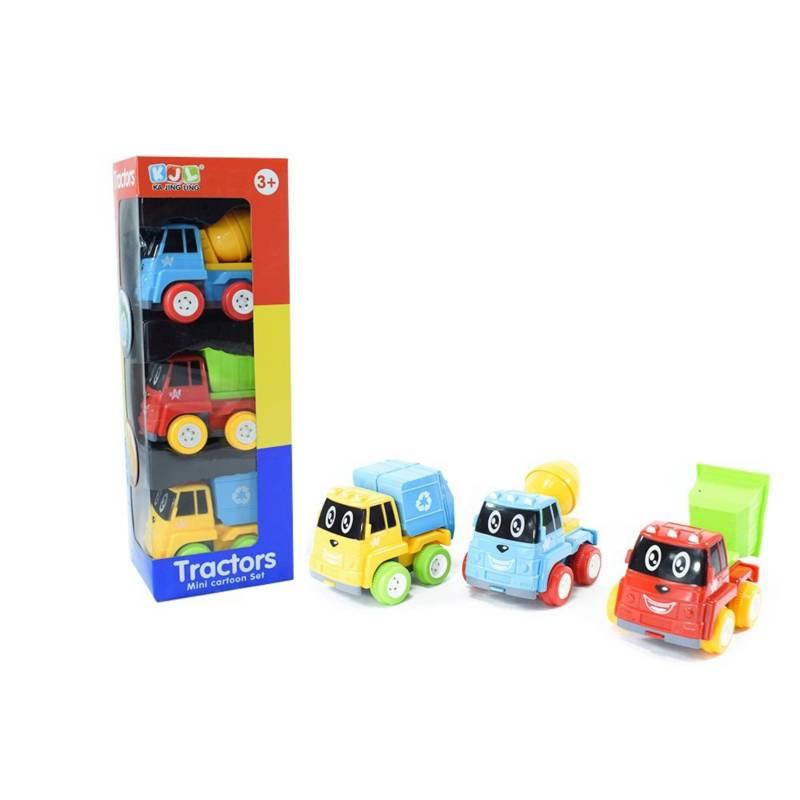 OTROS LICENCIADOS - Set x 3 carritos de construcción preescolares