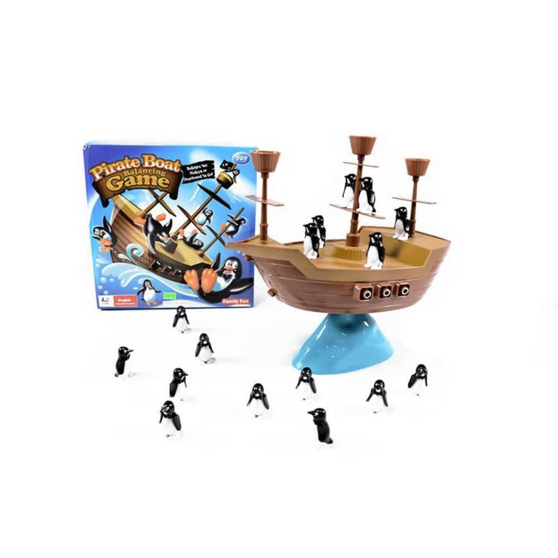 OTROS LICENCIADOS - Juego barco pirata pingüinos en equilibrio 3+