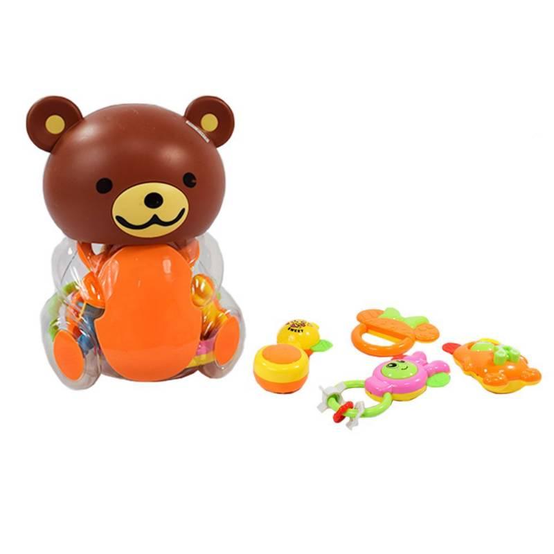 OTROS LICENCIADOS - Contenedor en forma de oso con sonajeros -18m