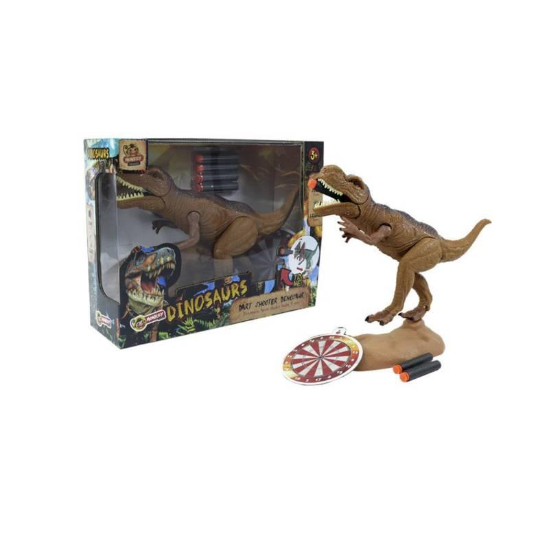 OTROS LICENCIADOS - Dinosaurio lanza dardos sonidos reales 3+