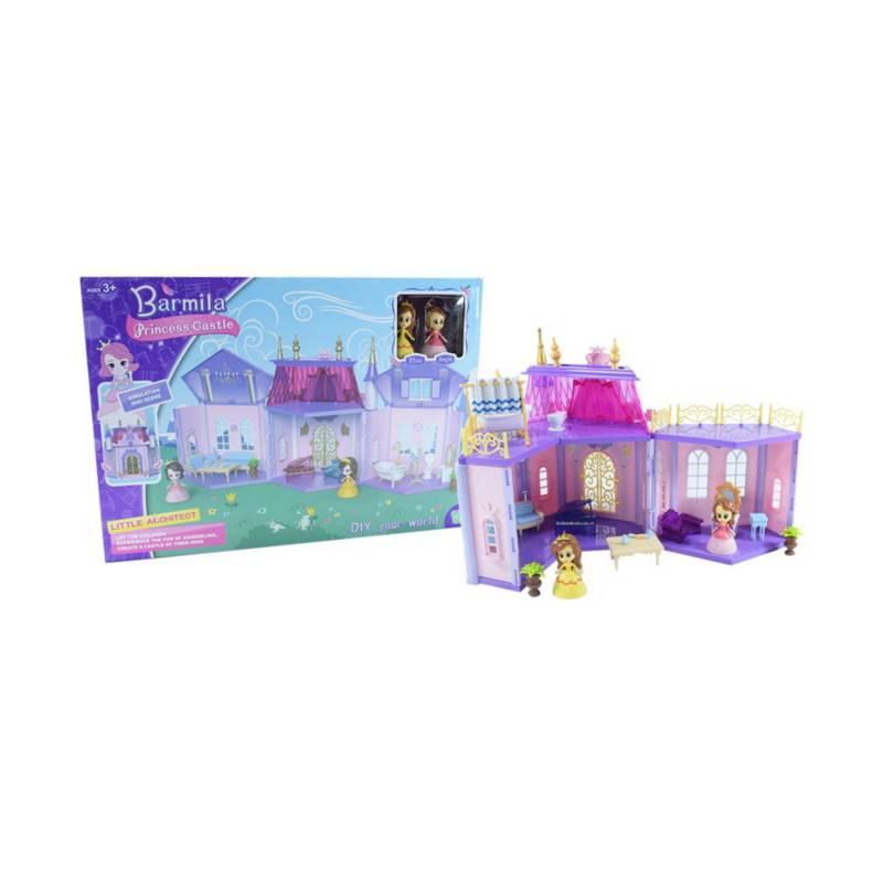 OTROS LICENCIADOS - Castillo modular princesas incluye 2 personajes