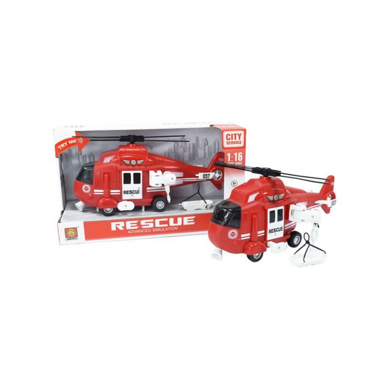 OTROS LICENCIADOS - Helicóptero de rescate luces y sonidos rojo