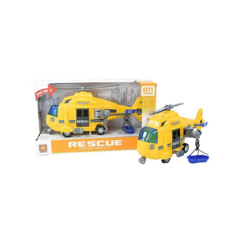 OTROS LICENCIADOS - Helicóptero de rescate luces y sonidos amarillo