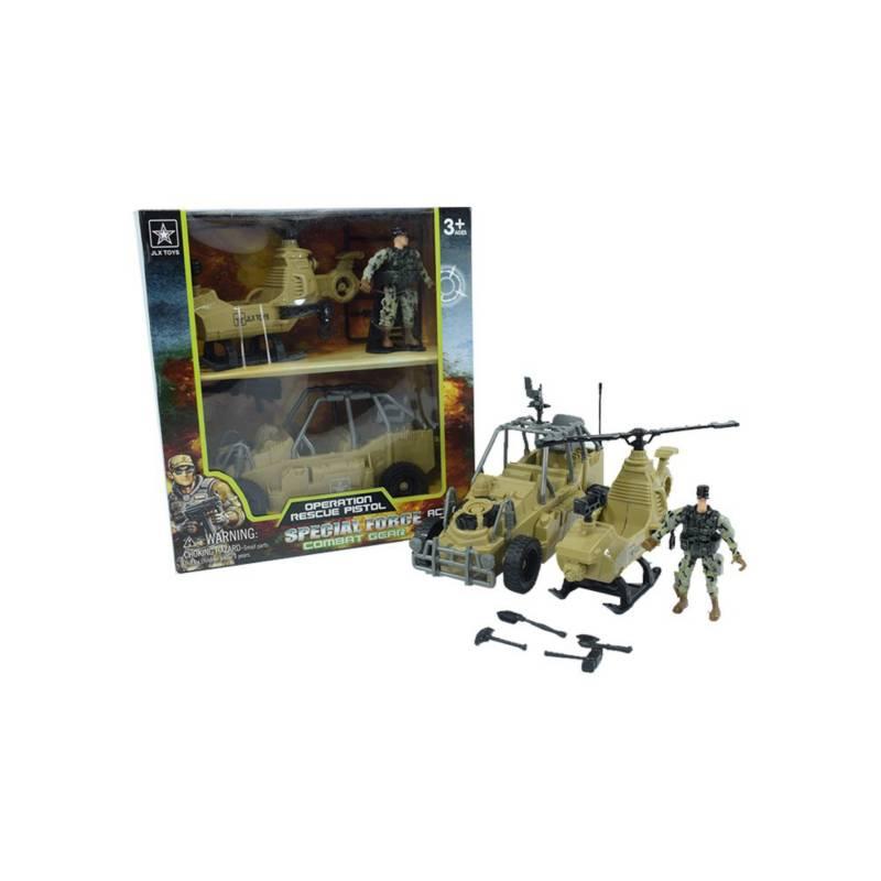 OTROS LICENCIADOS - Set rescate carro y helicóptero 3+