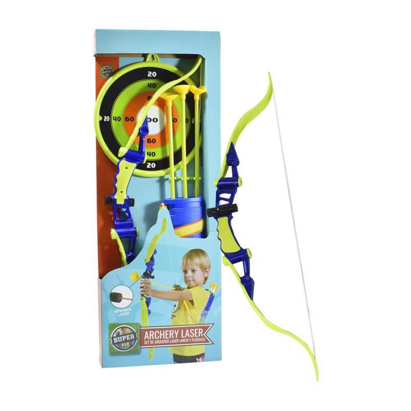 Super Sport - Set de arco y flechas con láser 3+