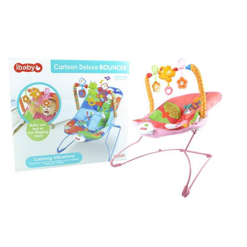 OTROS LICENCIADOS - Silla para bebe mecedora vibradora musical rosada