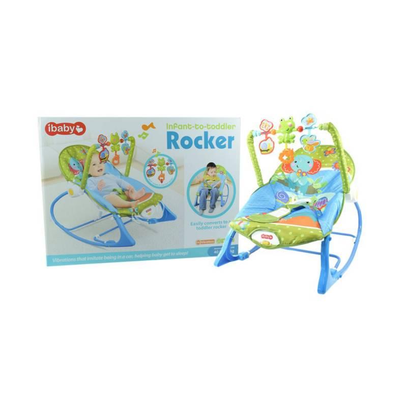 OTROS LICENCIADOS - Silla para bebe mecedora vibradora musical azul 12