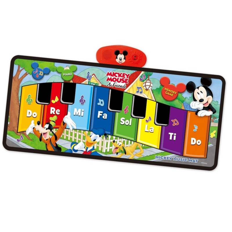 MONKEYBRANDS - Tapete piano con luces musical Mickey 12m+