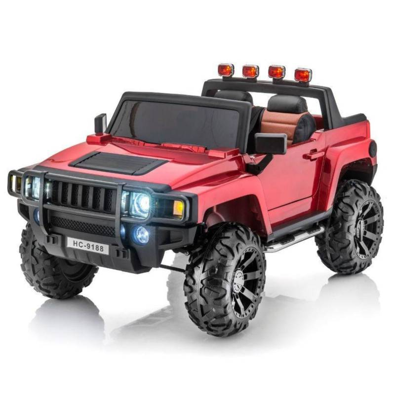 Road Master - Carro recargable eléctrico montable Hummer Rc