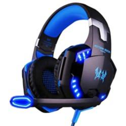 Danki - Audífono gamer USB micrófono luz Led g2000 azul