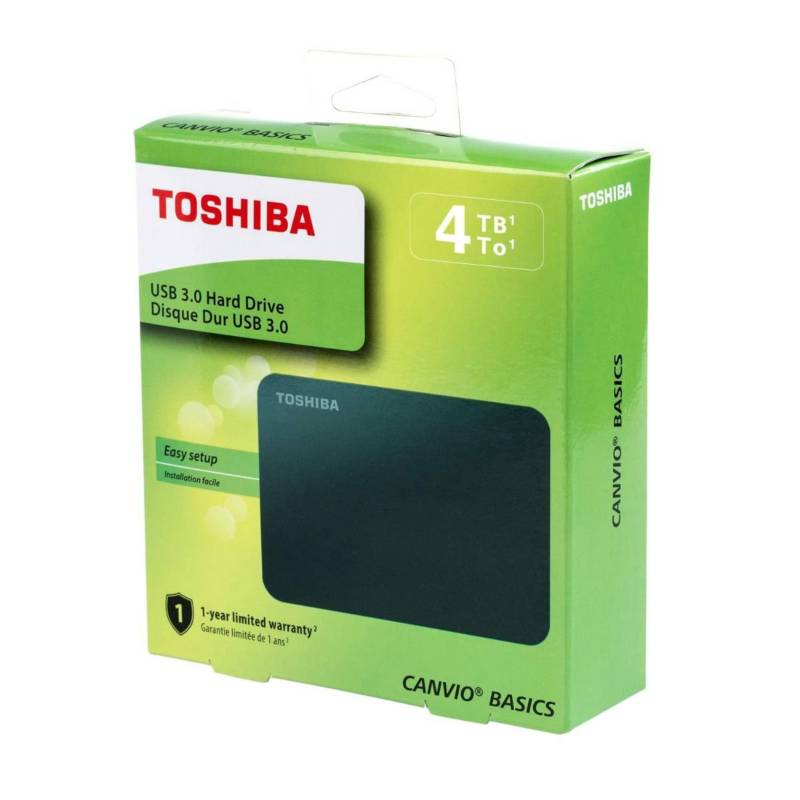 Toshiba - Disco duro externo Toshiba 4tb canvio Basic new m