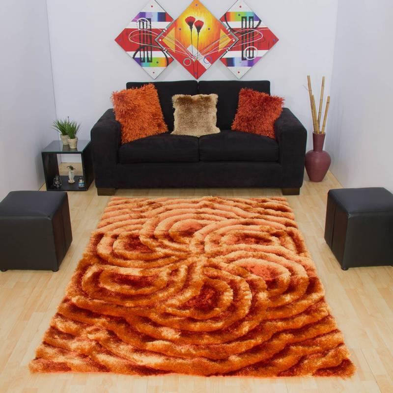 MITAPETE.COM - Tapete 5d naranja 1.40 x 2 más