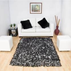Alfombra tapete negra y blanco 1.60 x 2.30mt