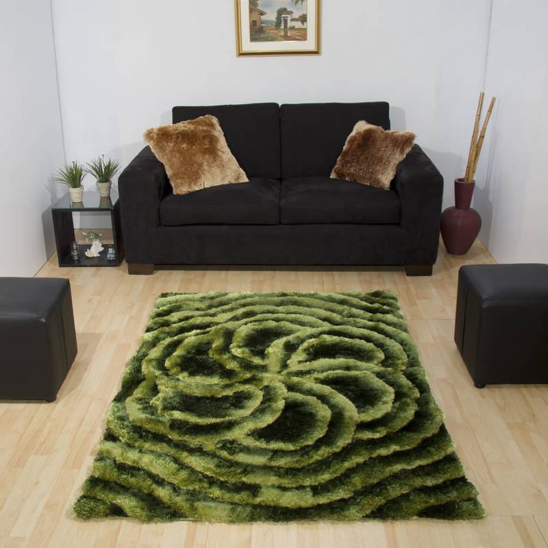 MITAPETE.COM - Alfombra tapete verde 1.60 x 2.30mts