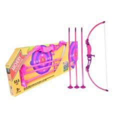 Super Sport - Set arco y flechas para niñas (incluye 3 flechas