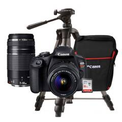 Canon - Cámara Profesional Canon EOS T7 PREMIUM+ trípode + estuche