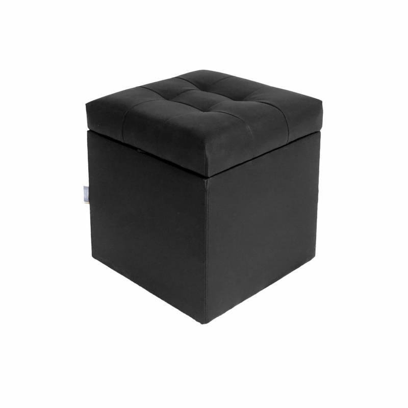 ESTILORELAX - Puff baúl  zapatero - 40 x 40 x  40