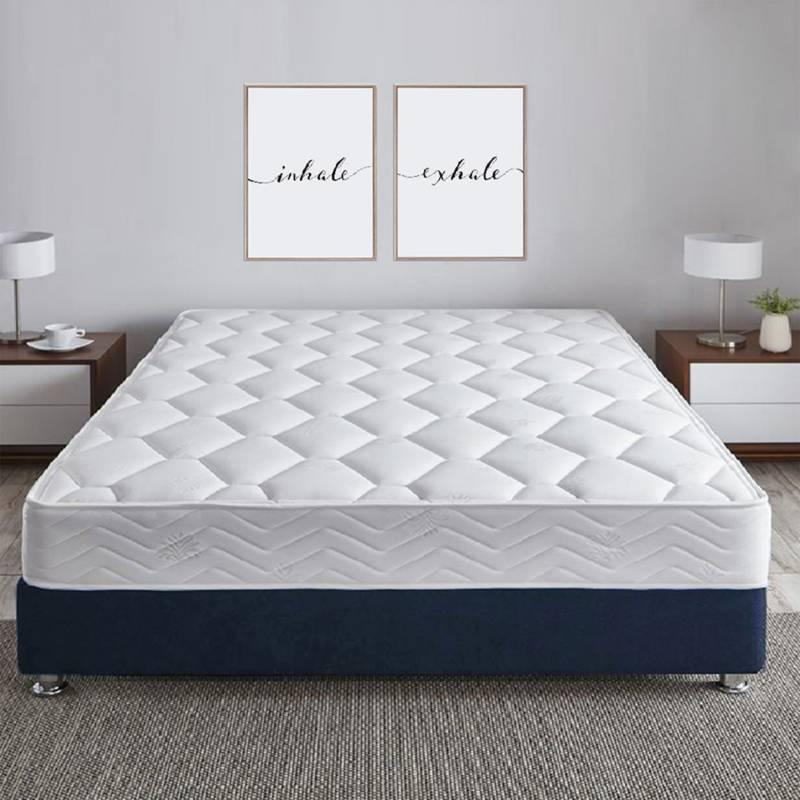 EKONOMODO - Base cama Florencia dividida 200x200 cm azul