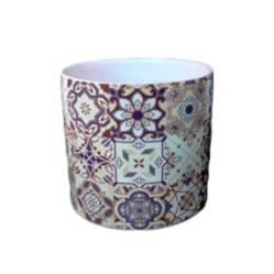 Maceta en cerámica diseño mosaico 03