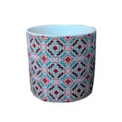 Maceta en cerámica diseño mosaico 02
