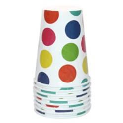 Vaso polka colores por 8 unidades