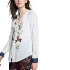 Desigual - Camisa Mujer Manga Larga Desigual