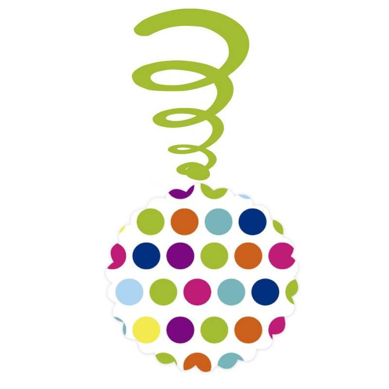 Mi fiesta - Espiral polka colores por 4 unidades