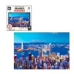 Toyng - Rompecabezas 1000 Piezas Ciudades Mundo Hong Kong
