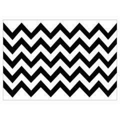 Mi fiesta - Individual rayas blanco/negro por 8 unidades