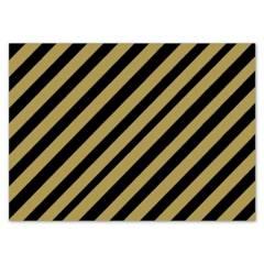 Mi fiesta - Individual rayas negro/dorado por 8 unidades