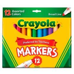 Crayola - Marcador Línea Gruesa x12 Surtido