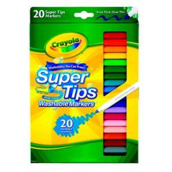Crayola - Marcadores Super Tips Silly Scents x20
