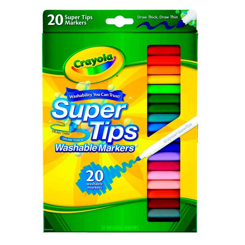 Crayola - Marcadores Super Tips Silly Scents x20