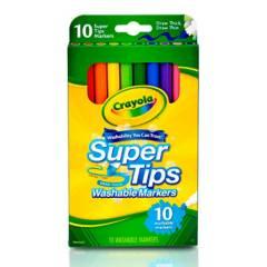 Crayola - Marcadores Lavables Súper Tips x10