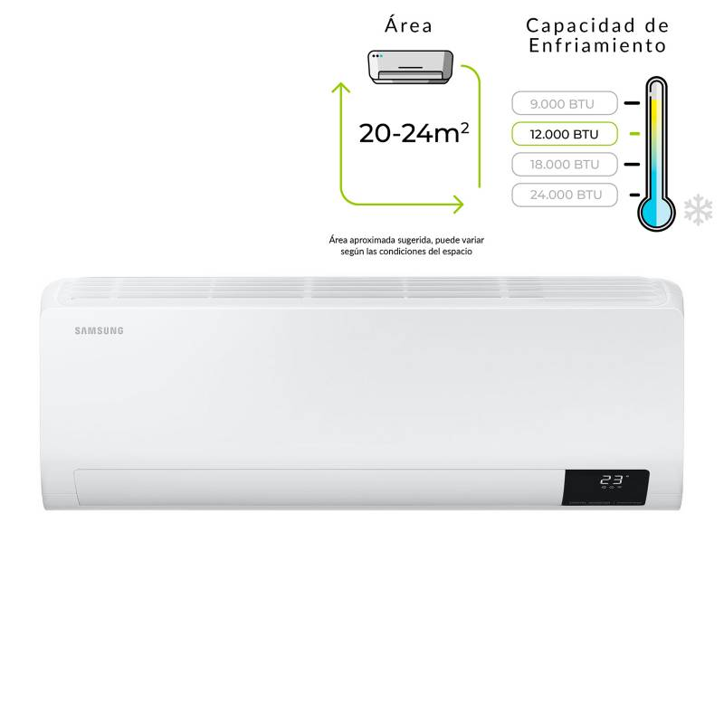 Samsung - Aire acondicionado Inverter 12000 AR12TVFZAWK/CB
