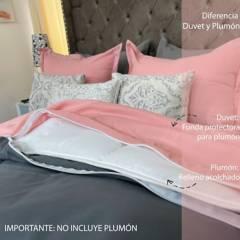 KARYTEX - Duvet bicolor  faz rosa- gris karytex