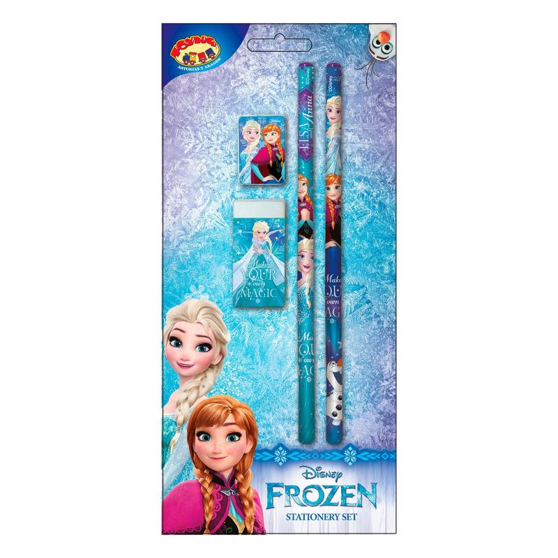 Frozen - Frozen Set De Escritura X 4 Piezas
