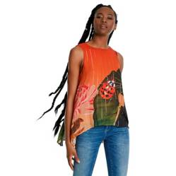 Desigual - Blusa Mujer Sin mangas Desigual