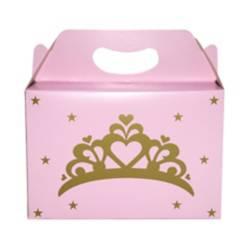 Mi fiesta - Caja de cartón princesas dorado por 1 unidad