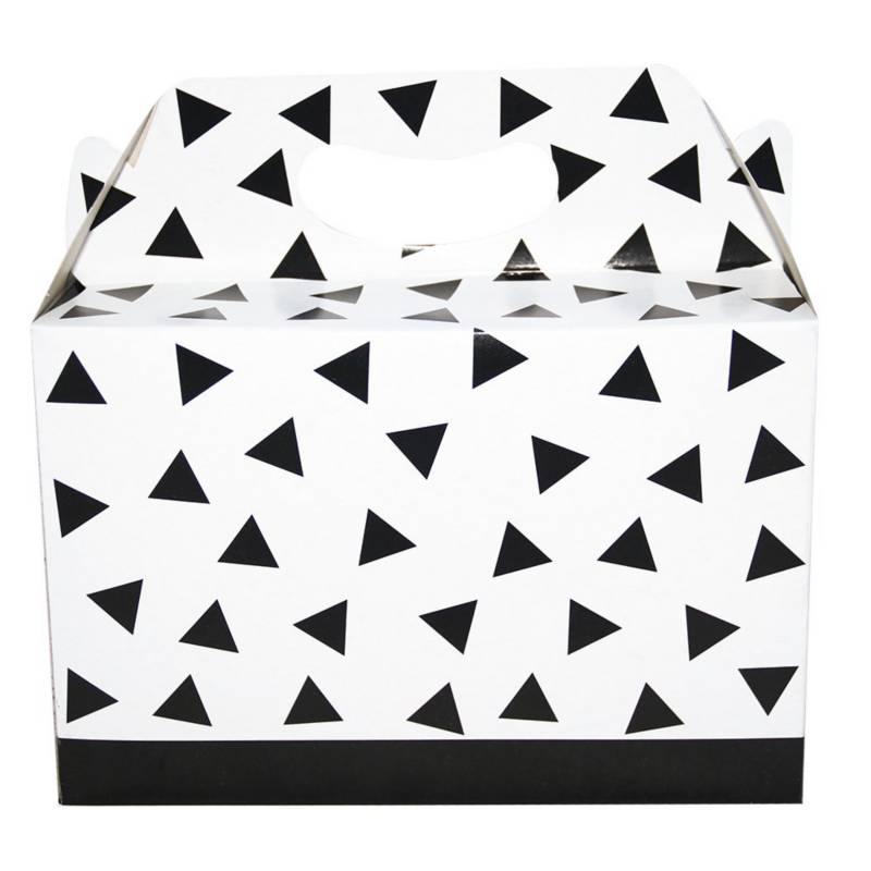 Mi fiesta - Caja de cartón rayas blanco/negro por 1 unidad