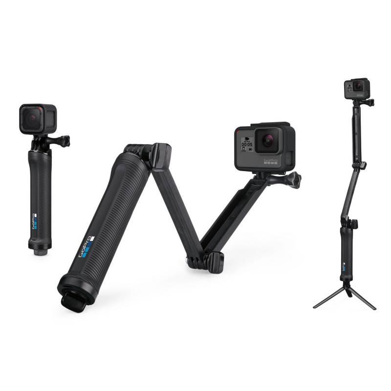 GoPro - Soporte de cámara 3-way trípode brazo y puño