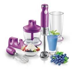 Sencor - Batidora 3en1 con picador y batidor sencor violeta