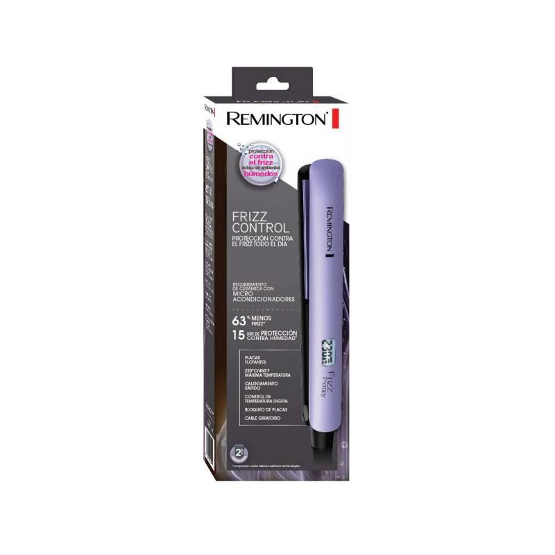 Remington - Plancha Remington shine therapy antifrizz, morado