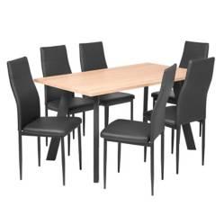 Comedor 6 puestos widiad negro