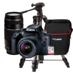 Canon - Cámara Profesional Canon EOS Rebel T100 + Lente 18 55 DC III + Lente 75 300 18 MP
