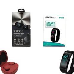 Combo audibluetooth bd330rojo+smartband w608 negro