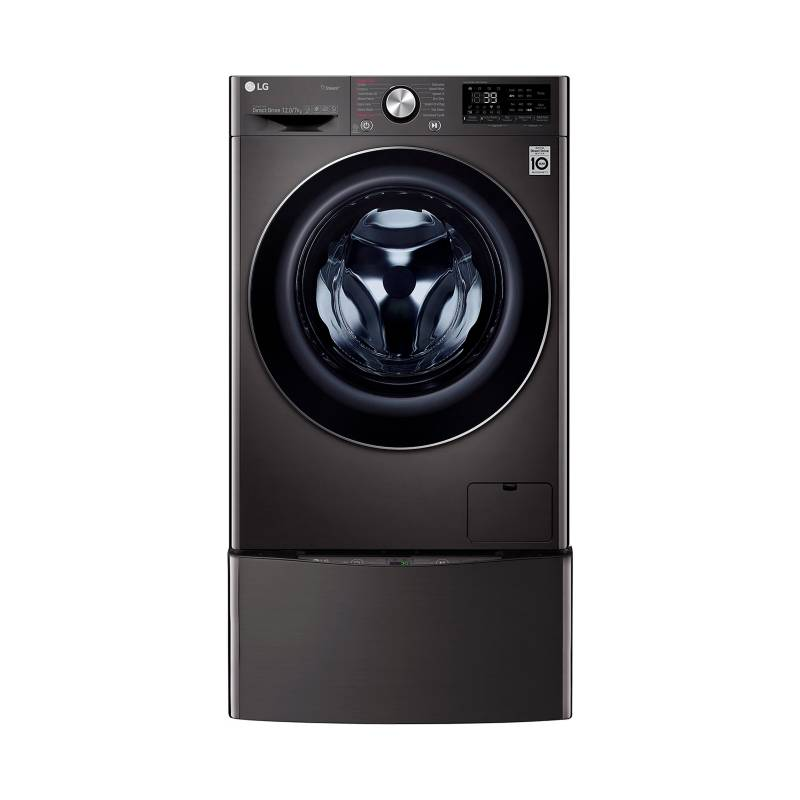 LG - Lavadora Secadora LG Eléctrica 12 kg TWD12BC2S.PKG