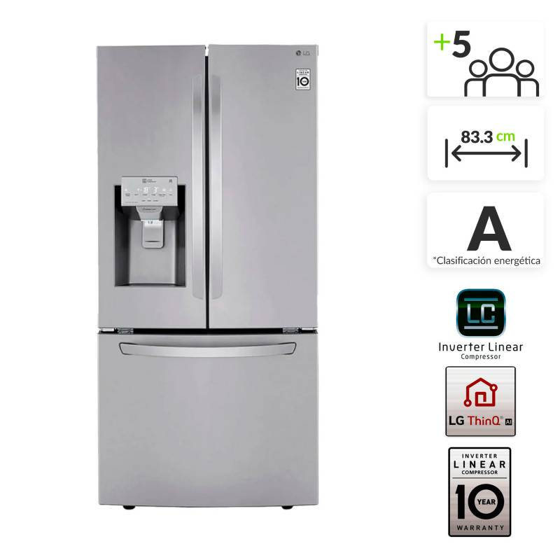 LG - Nevecón LG French Door 590 lt LM65SGS.ASTCCL