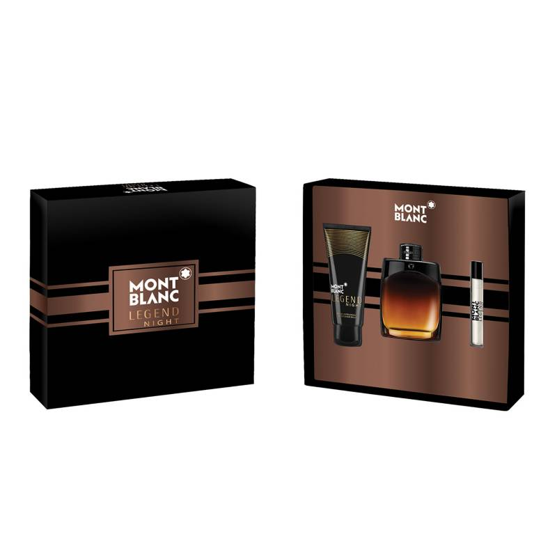 Montblanc - Set de Perfumería Legend Night Hombre EDP 100 ml + EDP 7.5 ml  + After Shave 100 ml